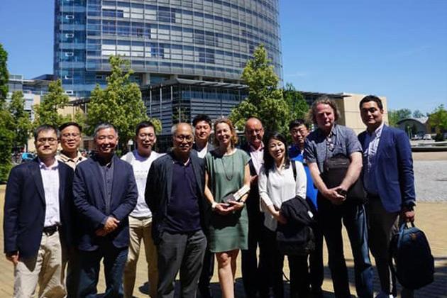 Mit Journalisten aus Südkorea beim MDR