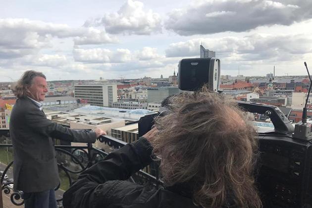 Mit ARTE auf dem Turm der Nikolaikirche in Leipzig