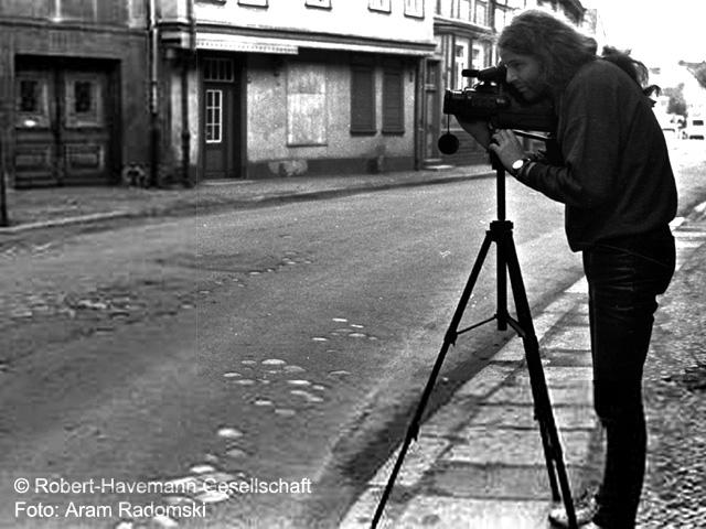 1989 Siegbert Schefke filmt in Halberstadt