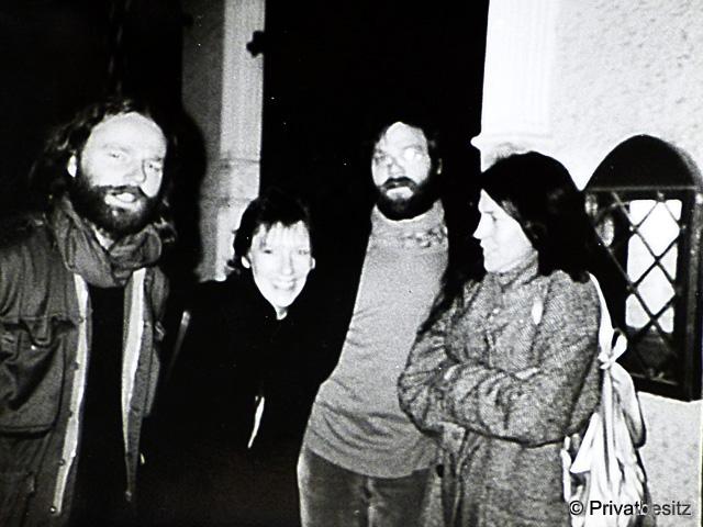 Siegbert Schefke mit Carlo Jordan und Besuch aus München
