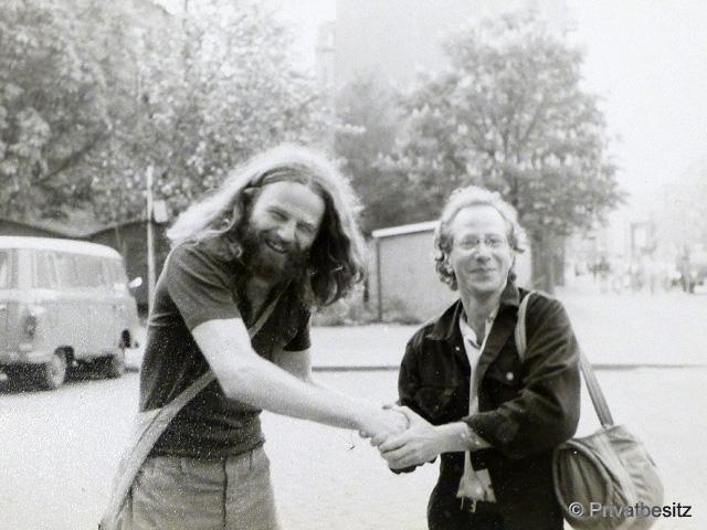 Siegbert Schefke mit Bruce aus New York