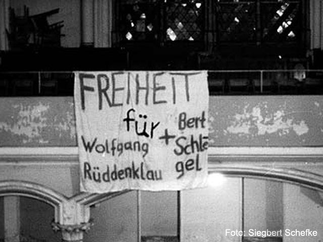 "1987 Protest gegen STASI-Aktion ""Falle"""