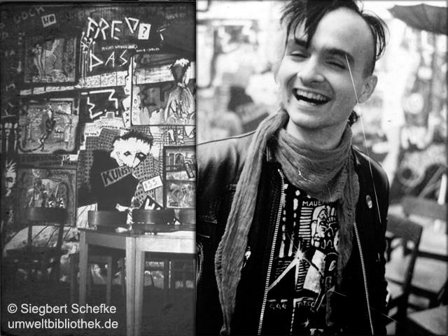 1987 Igor Tratschke und die AG Mauerstein in der Umweltbibliothek