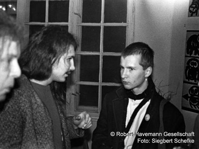 1987 Till Bötcher und Andreas Kalk nach ihrer Entlassung
