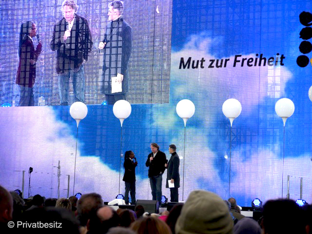 9. November 2014: Bürgerfest am Brandenburger Tor