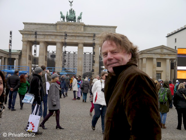Siegbert Schefke am Brandenburger Tor